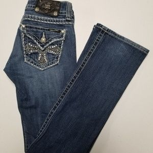 Women's Miss Me Jeans Boot Tag Size 25 Embellished